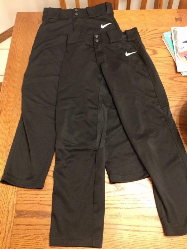 Nike boys baseball Pants Size Medium Black (2 pair)