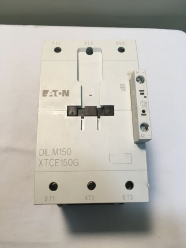Eaton DIL M150 XTCE150G 3 Pole 400 VDC Contactor 24-27 VDC Auxiliary Contact