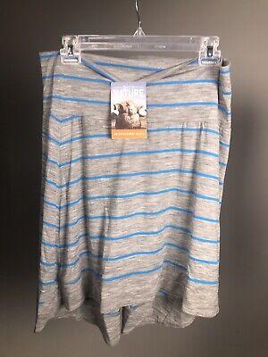 ICEBREAKER Allure 150 Women's Stripe Skirt - UPF 20+, Merino Wool - NWT!