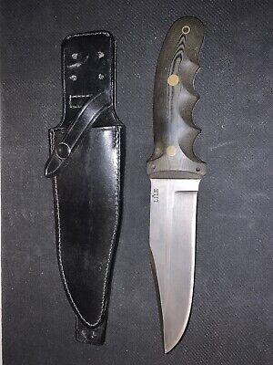 Jimmy Lile Gray GHOST Knife DOT Matching Lile Leather Sheath