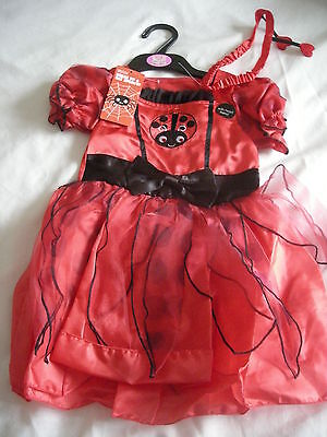 M&S FANCY DRESS GIRLS HALLOWEEN LADYBIRD DRESSING UP OUTFIT 12-24 months - NEW
