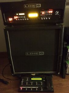 Line 6 Vetta 2 half stack w/ foot switch