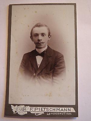 Landeshut i. Schlesien - Mann im Anzug - Portrait / CDV