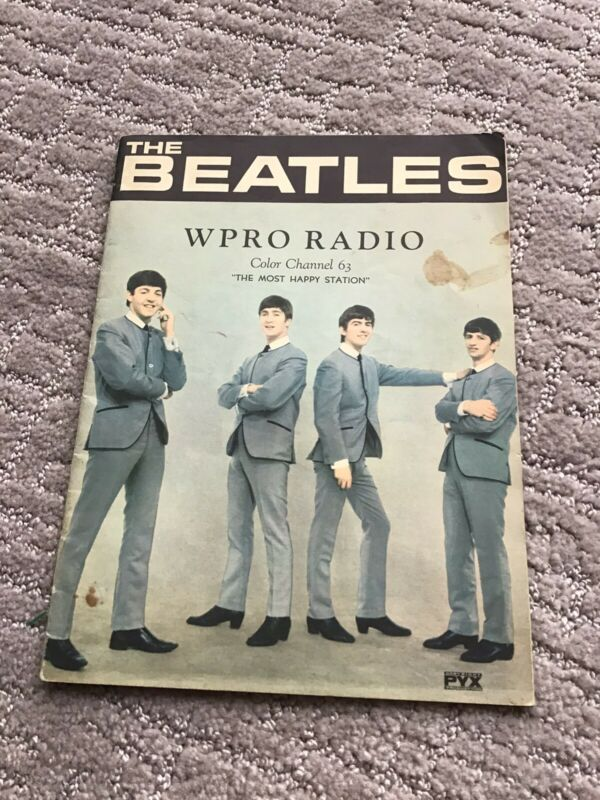 THE BEATLES WPRO RADIO PHOTO BOOKLET