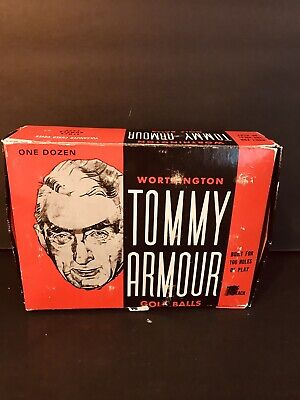 4 Sleeves of 10 Vintage TOMMY ARMOUR 75 cents Worthington Golf Balls & Golf Tees 10 Cent Golf Balls