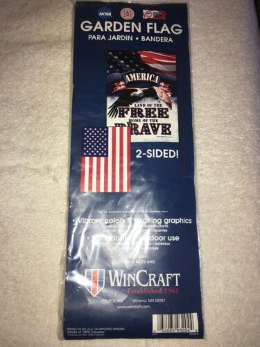 Wincraft Garden Flag 2 Sided Land Of The Free Home Of The Br