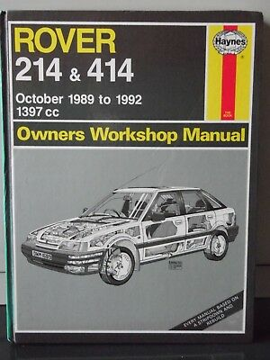 Haynes Rover 214 & 414 Owners Workshop Manual 1397cc Oct 1989 to 1992 (Hardback)