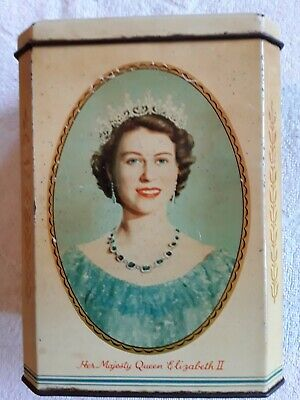 Vintage Coronation Tin For Queen Elizabeth 11.