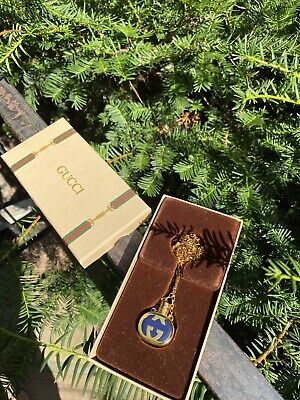 Vintage Gucci Necklace. Perfume Bottle Necklace In Original Box!
