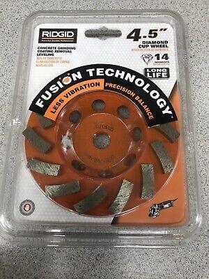 Ridgid 4.5 Concrete Grinding Coating Removal Leveling Diamond Cup Wheel Taw45p1