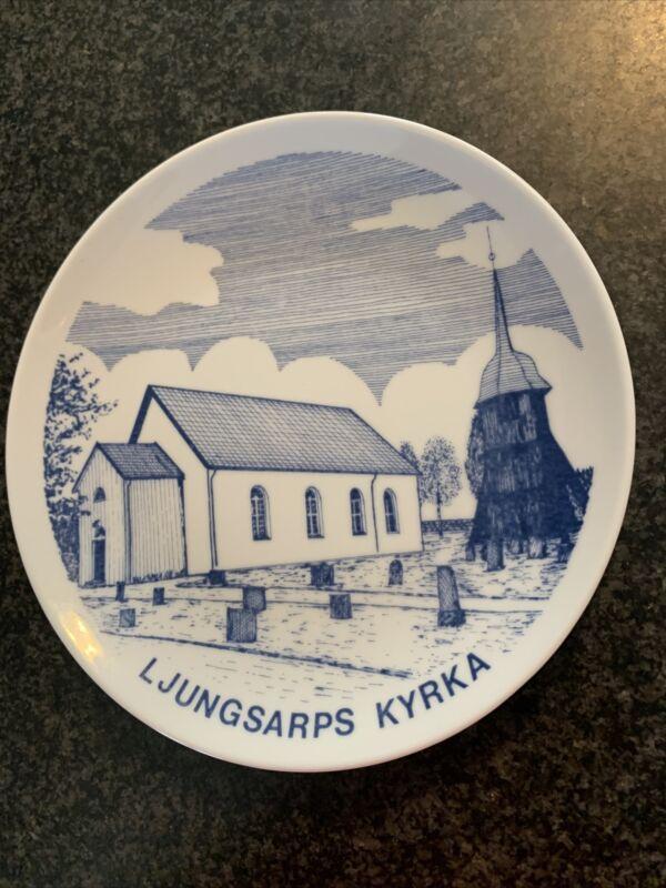 Riges Halmstad LJUNGSARPS Kyrka Church Sweden PORCELIAN PLATE