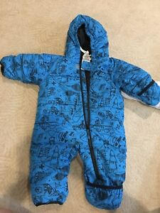 Columbia down snowsuit with roll up at feet and hands