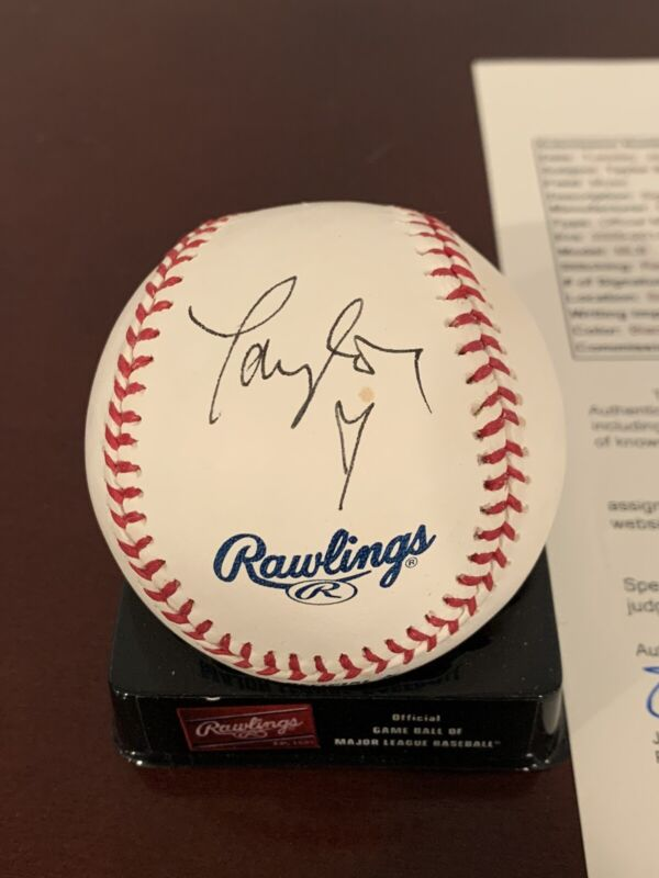 Taylor Swift Signed OMlb Baseball Jsa Coa Rare Folklore Red