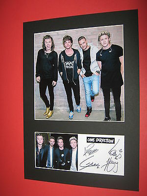 ONE DIRECTION 1D A4 MOUNT SIGNED REPRINT AUTOGRAPHS LIAM PAYNE HARRY STYLES
