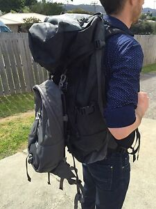 Kathmandu Interloper x-pac 70L Travel Pack with harness + day pack Lindisfarne Clarence Area Preview