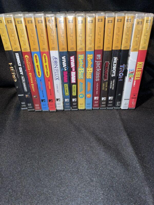 Lot 16 PSP UMD Video Movies TV Shows Comedy Animated Sealed Rob & Big Kill Bill