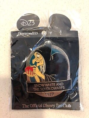 Disney Pin D23 Expo Le 500 Truck Or Treat Halloween Snow White Old Hag