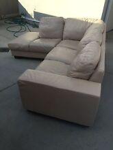 Genuine leather L shape lounge Lugarno Hurstville Area Preview