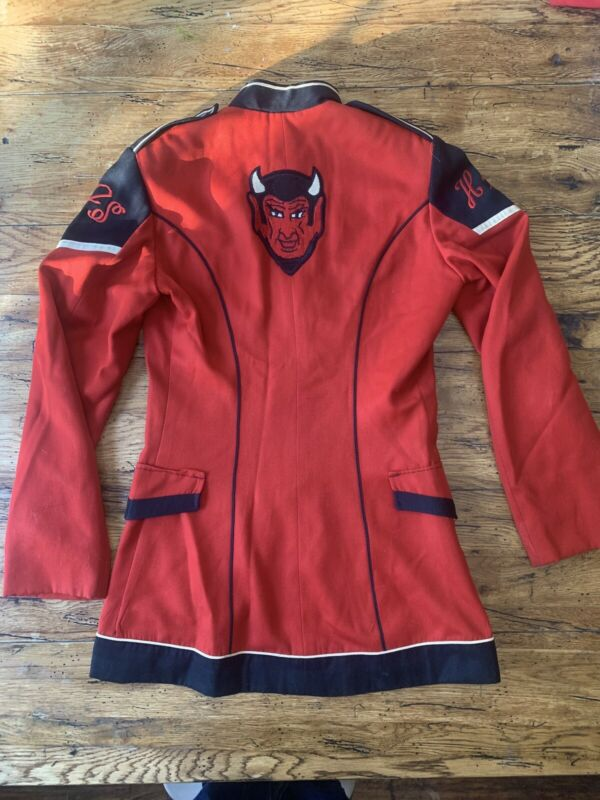 VINTAGE marching band RED DEVILS jacket Size 53 DeMoulin Bro's & Co