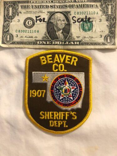 Rarer Beaver County Sheriffs Dept.Oklahoma Police Patch un-sewn Oklahoma Patch