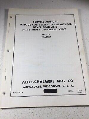 Allis Chalmers Hd11ep Crawler Dozer Transmission Bevel Service Manual
