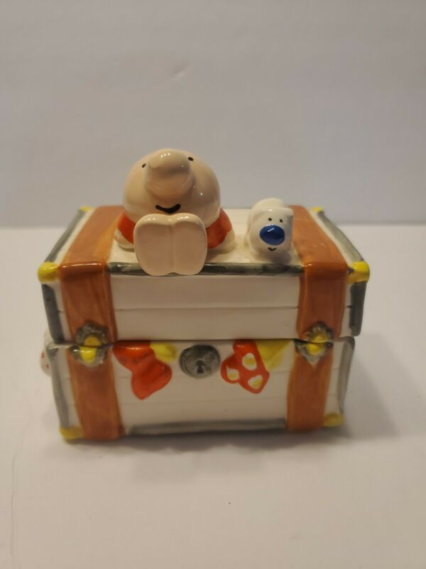 Vintage Ziggy porcelain or Ceramic trinket box chest