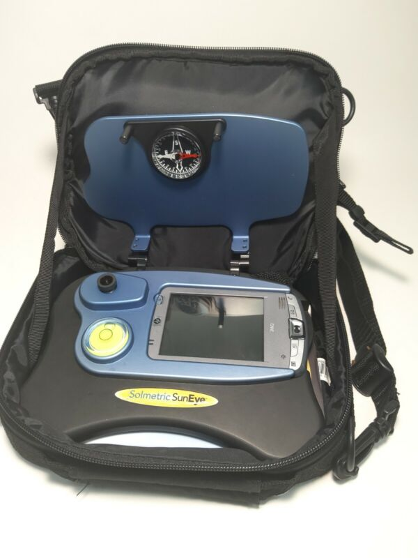 SOLMETRIC SUNEYE 110N v2 W/ SOFTWARE DATA & CHARGER CABLES CARRY CASE VERY CLEAN