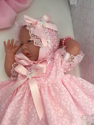 Berenguer Baby Doll With Soft Body In Pink Dress, Panties + Sun Bonnet BRAND NEW