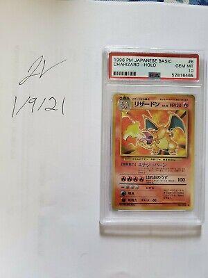 1996 Pokemon Japanese Base Set Holo Charizard #6 PSA 10 GEM MINT