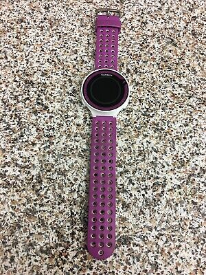 Garmin forerunner 220 gps running watch Purple/white band - Used - Not In Box