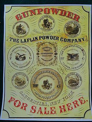 Laflin Gun Powder Company Advertising Poster Gunpowder
