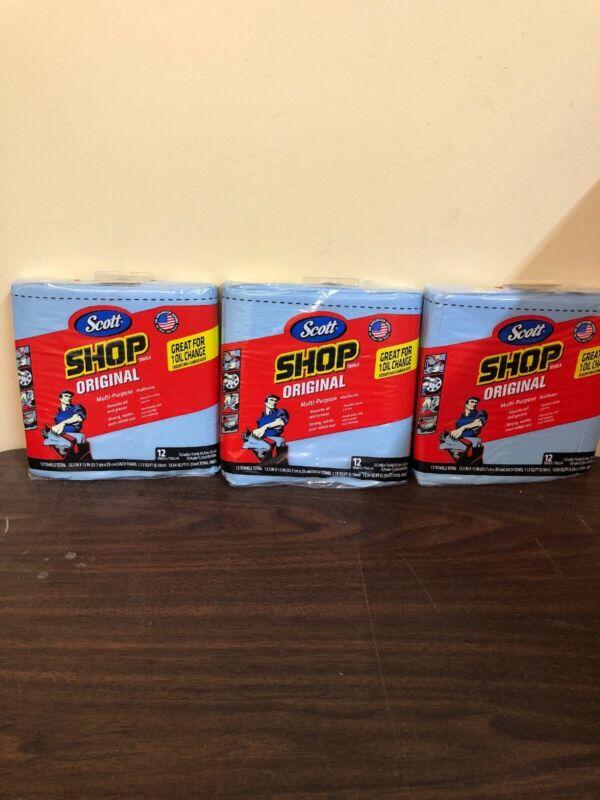 Scott  Paper  Shop Towels  13 in. W x 12-1/2 in. L 12 pk Lot Of 3