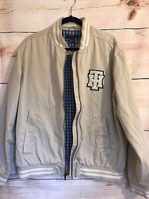 Mens Tommy Hilfiger Basebal Bomber Varsity Style Jacket Spellout Large