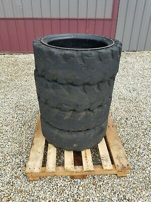 4 Solid Air Tires 31x10-20 No Flat 10-16.5 Rim Wheels 12x16.5 Mclaren Cushion