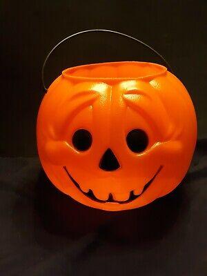 General Foam Plastics Vintage Halloween Blow-mold Jack-O-Lantern Pumpkin Nervous