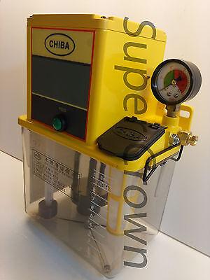 Chiba Cnc Lube Pump 2l Tank For Industrial Machines W Pressure Relief 110v Ce