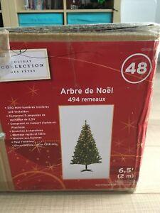 6.5' pre-lite Christmas tree