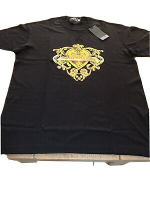 BRAND NEW MENS BLACK  VERSACE JEANS COUTURE T-SHIRT SIZE LARGE