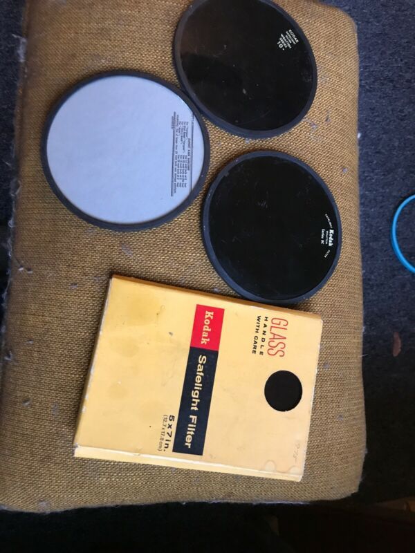 Lot Of Safelight Filters DuPont Wratten Series 10 Kodak Series OC