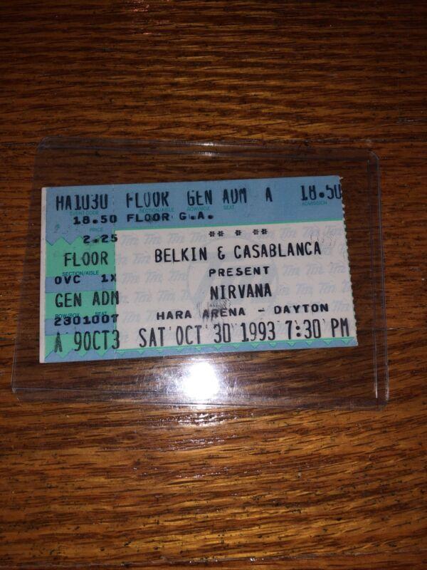 Nirvana Kurt Cobain Rare Ticket Stub Pearl Jam Soundgarden Alice In Chains AIC