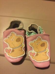 Baby shoe -Leather footlets