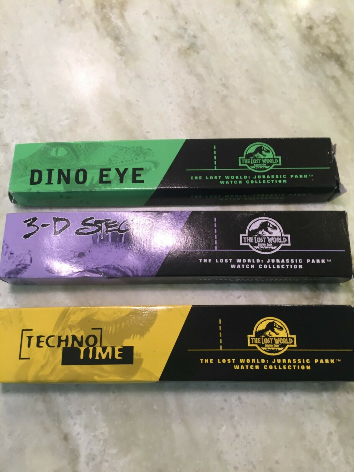 Lost World Jurassic Park 1997 Burger King Lot Of 3 Watches In Boxes - $15.00