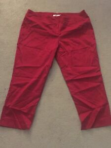 Red Capris Size 14