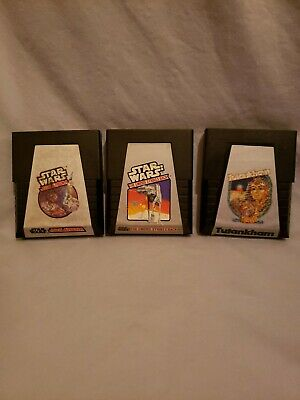 Vintage Atari 2600 Star Wars Jedi Arena,The Empire Strikes Back,Tutankham Lot