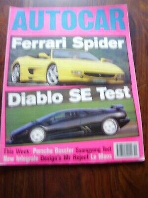 JOB LOT X 10 VINTAGE AUTOCAR & MOTOR CAR MAGAZINES AUTO 1991 TO 1995 DIABLO