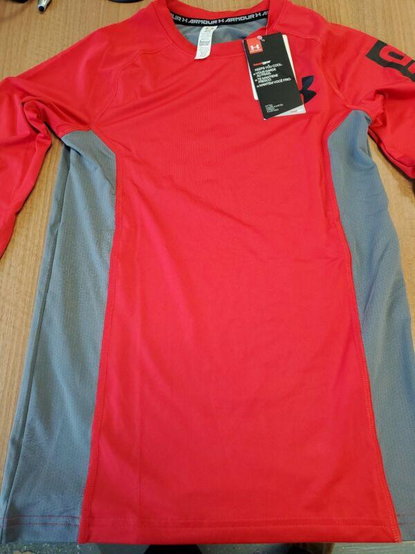 Youth Under Armour HeatGear Compression Long Sleeve Athletic Shirt SZ L