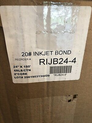 4 Rolls 24 X 150 20lb Inkjet Bond Plotter Paper Wide Format Inkjet Printers