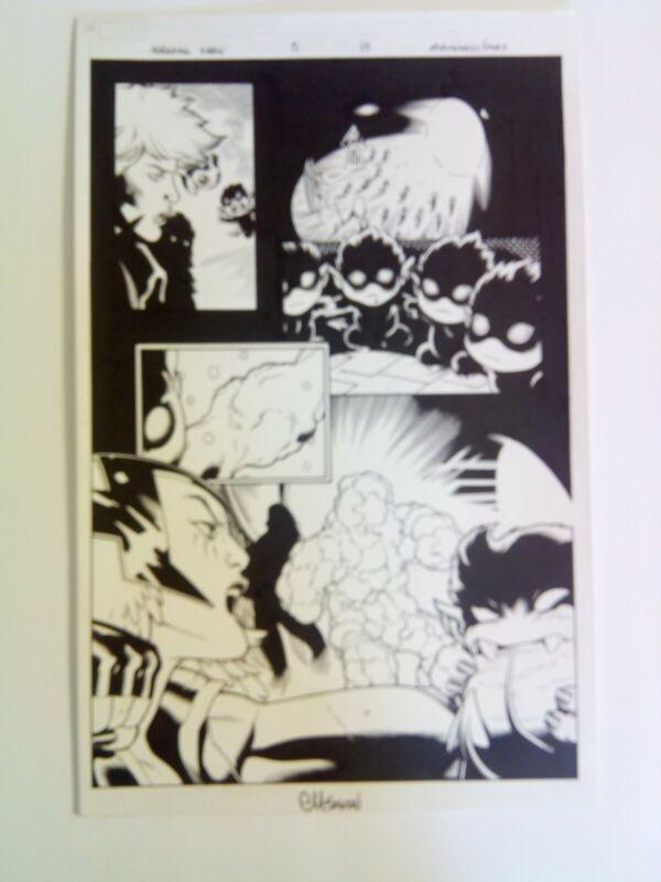 Amazing X-Men #5 page 13 2014 Original Art Ed McGuinness Dexter Vines Marvel