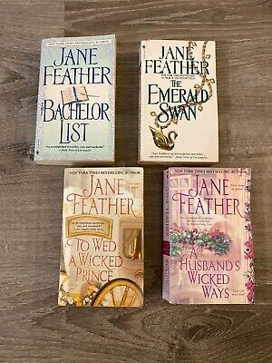 Lot of 4 Jane Feather Historical Romance Books Novels Paperbacks