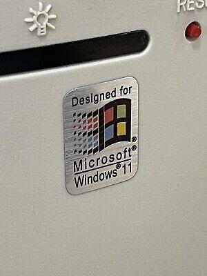Windows 11 Retro Sleeper Designed For Computer Case Badge Sticker PC Leak Build